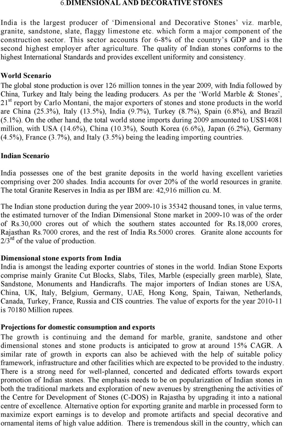 REPORT OF SUB- GROUP-II ON METALS AND MINERALS STRATEGY BASED UPON