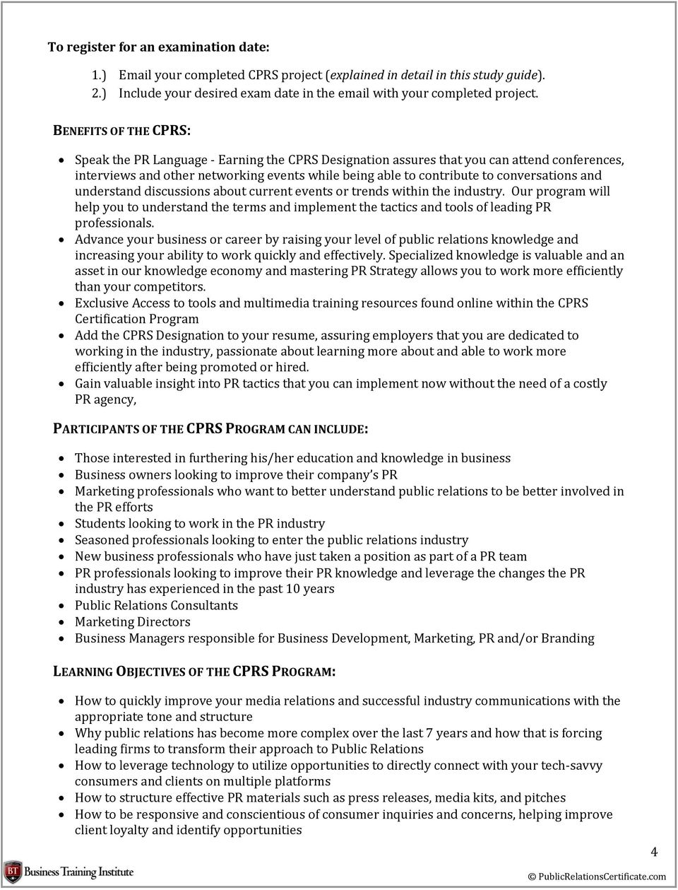 CERTIFIED PUBLIC RELATIONS SPECIALIST (CPRS) STUDY GUIDE - PDF