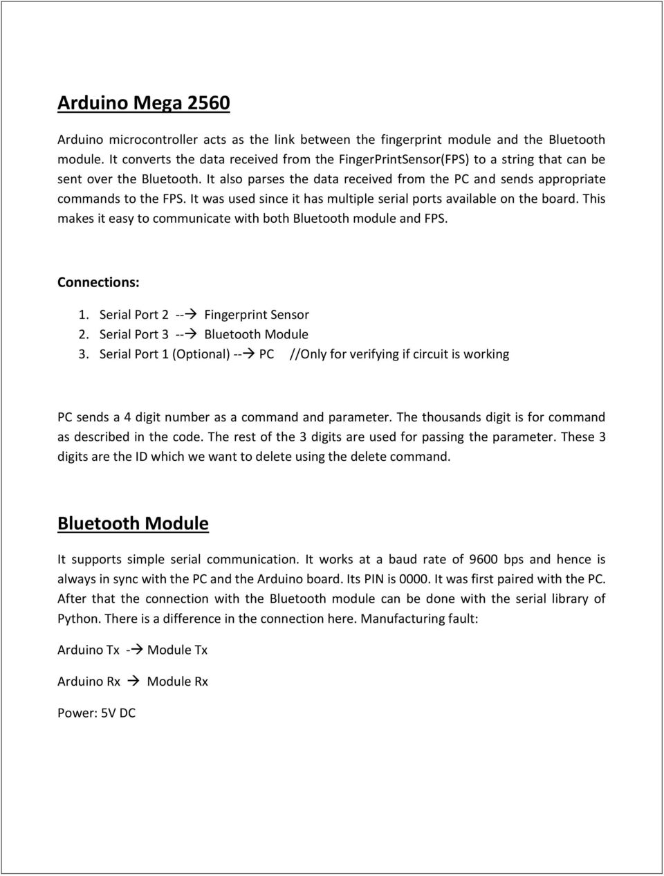 Summer Project Report  Fingerprint Based Attendance System - PDF