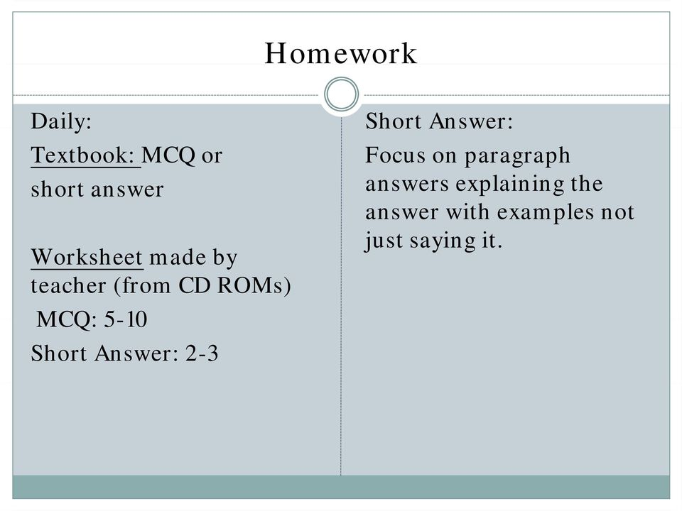 Short Answer: 2-3 Short Answer: Focus on paragraph