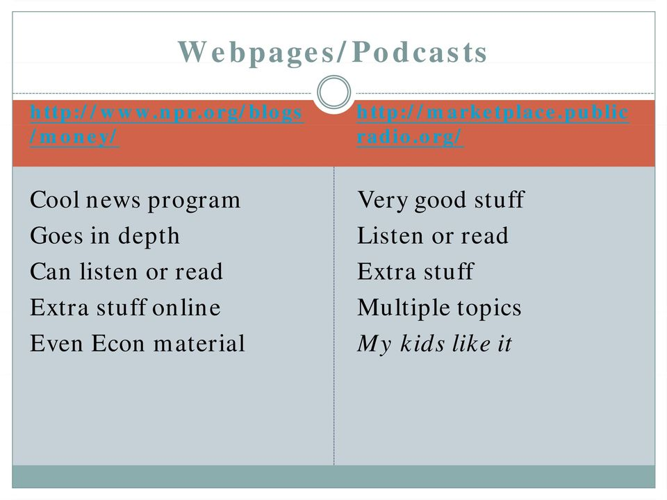 org/ Cool news program Goes in depth Can listen or read Extra