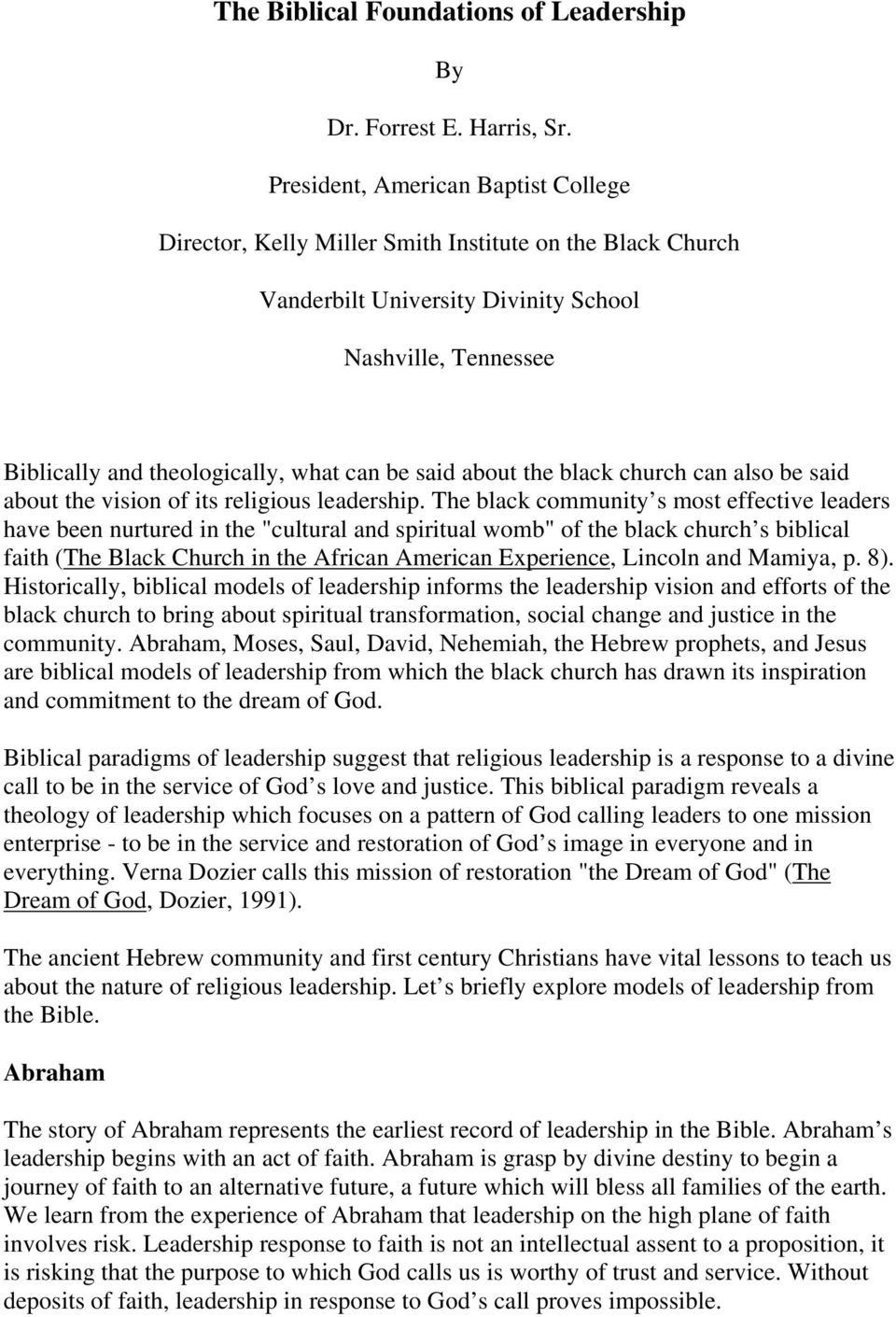 The Biblical Foundations of Leadership - PDF
