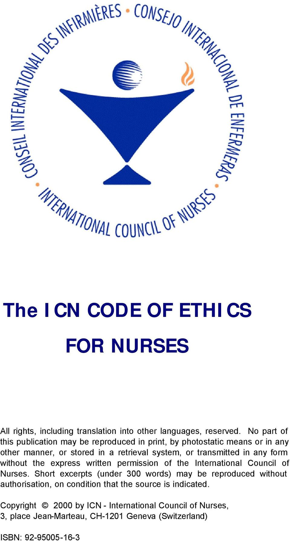 photo about Ana Code of Ethics Printable called The ICN CODE OF ETHICS FOR NURSES - PDF