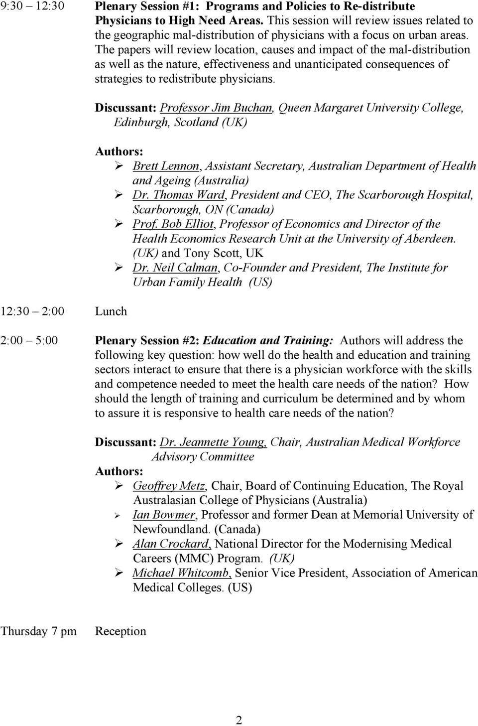 Wednesday, October 6  Pre-Conference Activities  1:30 5:00 Physician