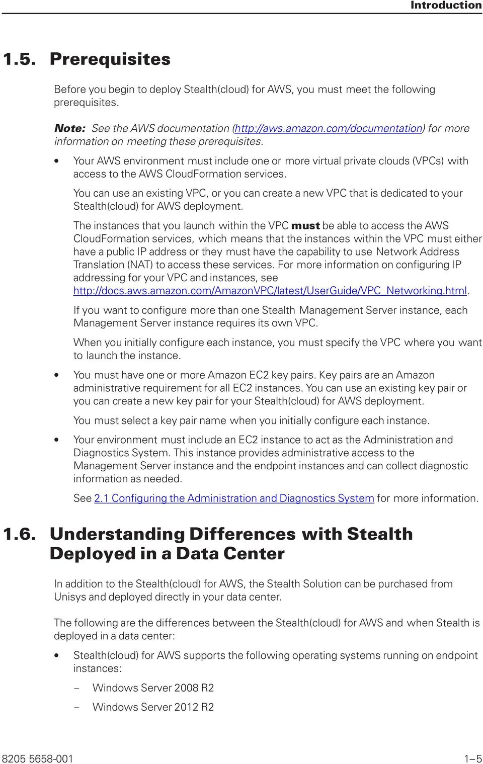 unisys Unisys Stealth(cloud) for Amazon Web Services