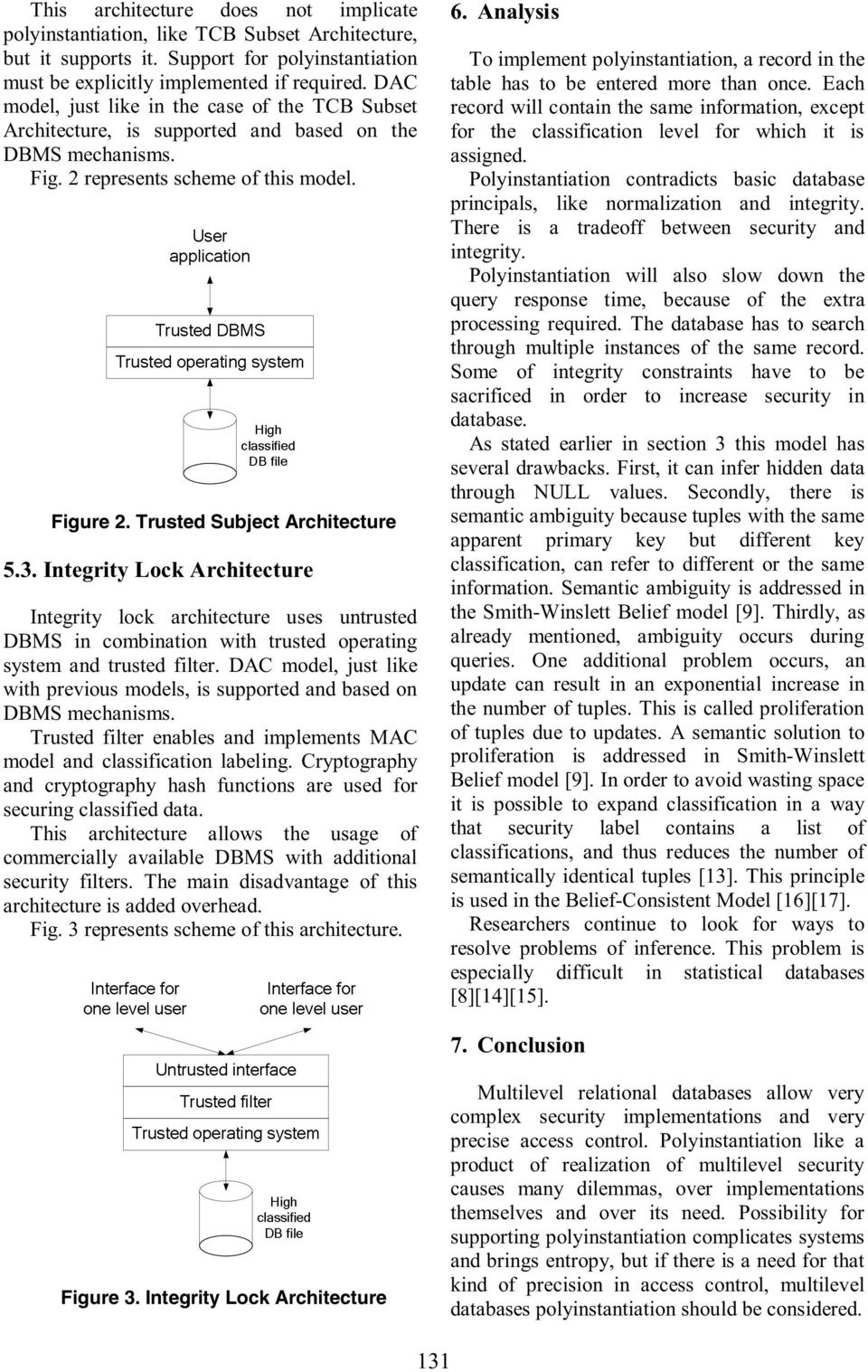Polyinstantiation In Relational Databases With Multilevel Security Pdf Database And Integrity Dbms Lock Architecture Uses Untrusted Combination Trusted Operating System