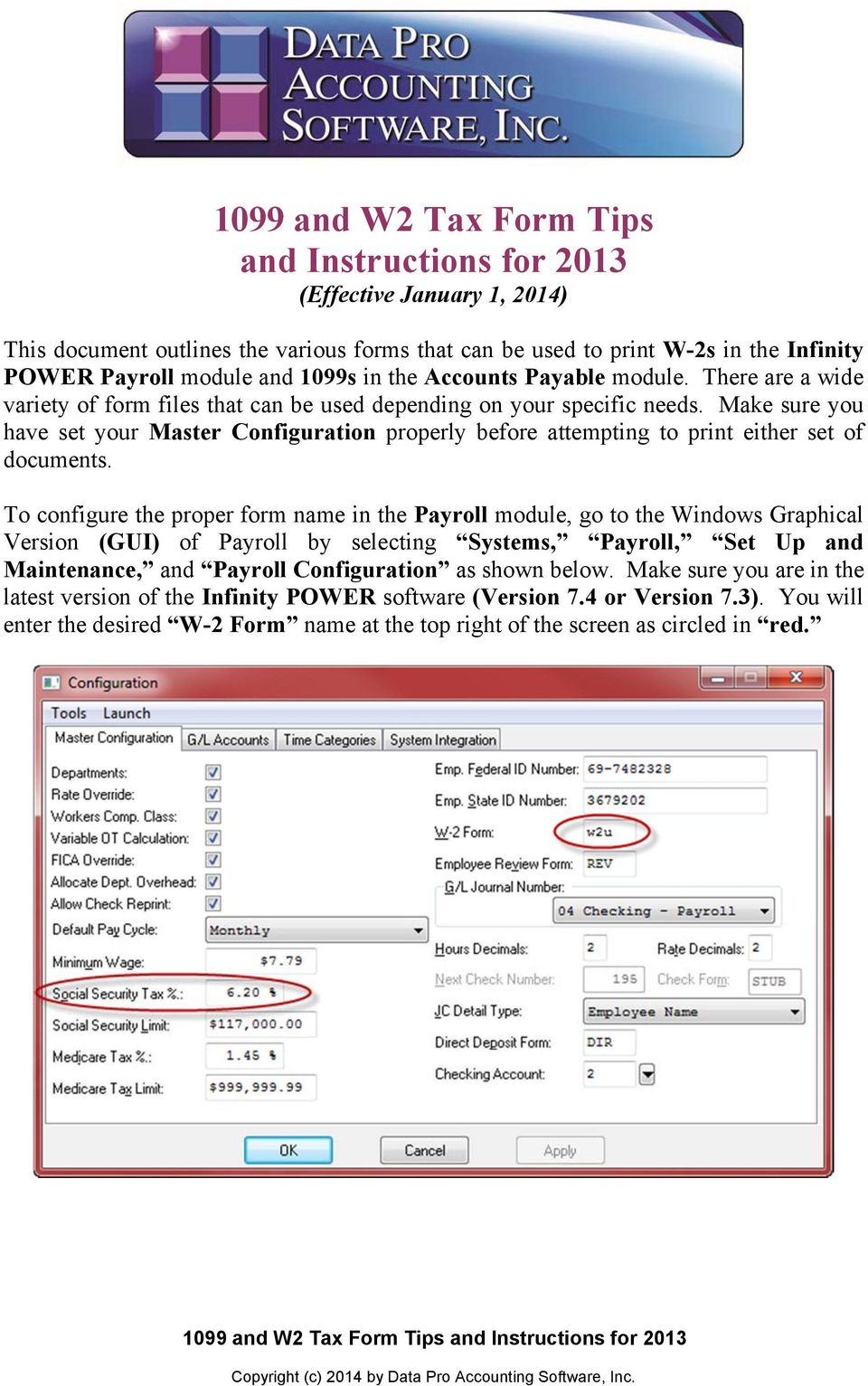 1099 and W2 Tax Form Tips and Instructions for 2013