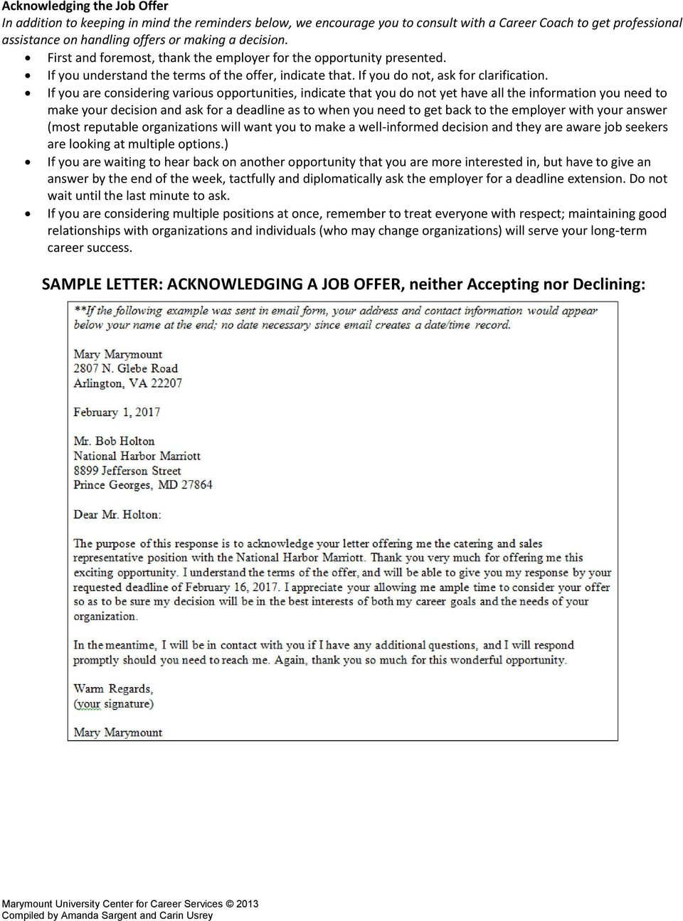 Sample Letter Declining Services from docplayer.net