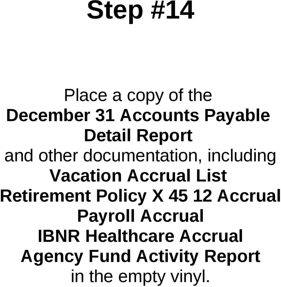 Accrual List Retirement Policy X 45 12 Accrual Payroll