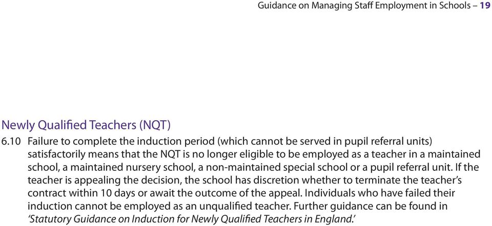 maintained school, a maintained nursery school, a non-maintained special school or a pupil referral unit.