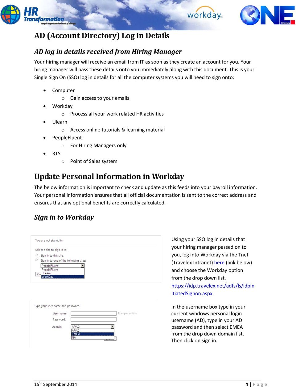 Welcome to Workday! Dear Colleague, - PDF