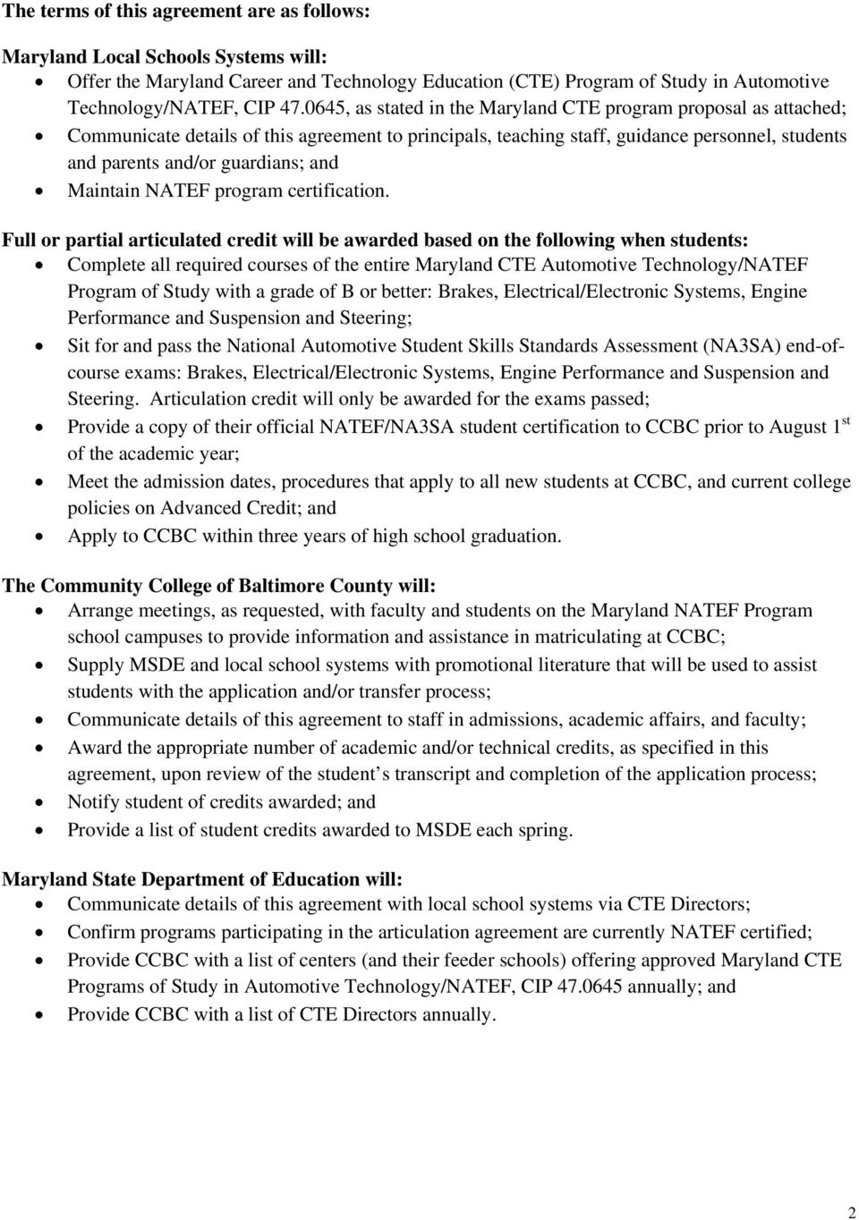 Note All Programs Eligible To Participate In The Articulation