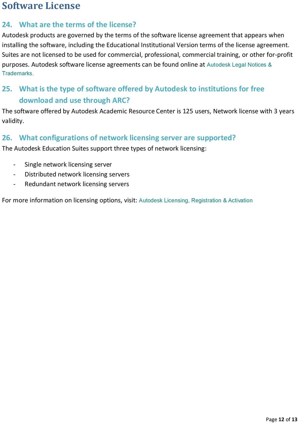 Frequently Asked Questions (FAQ) - PDF