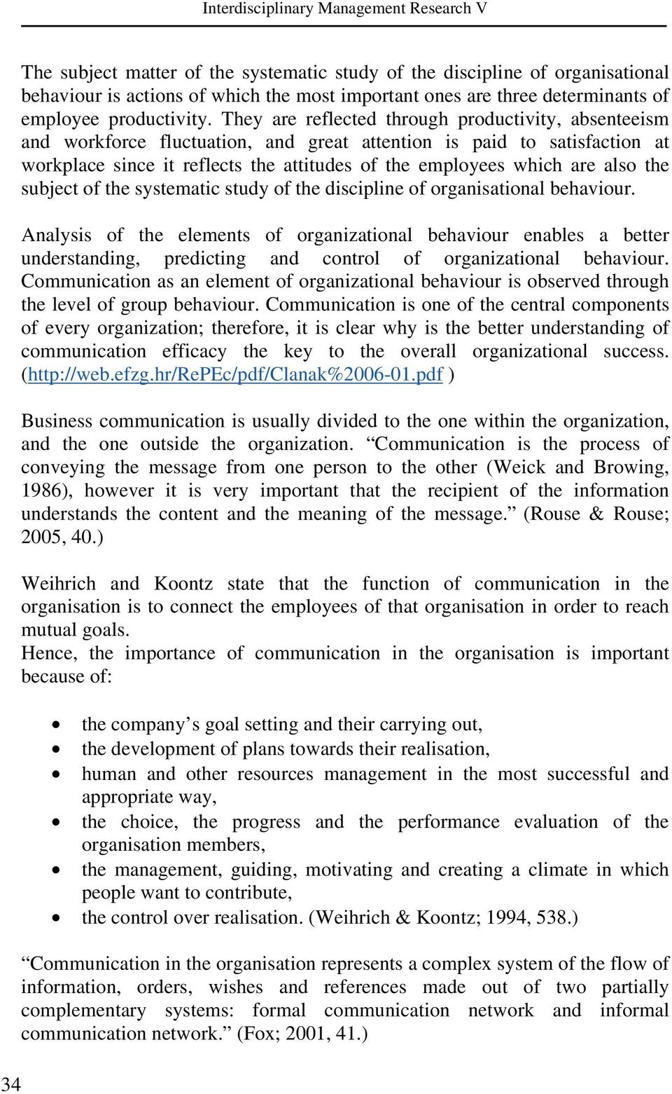 ORGANIZATIONAL COMMUNICATION AS AN IMPORTANT FACTOR OF