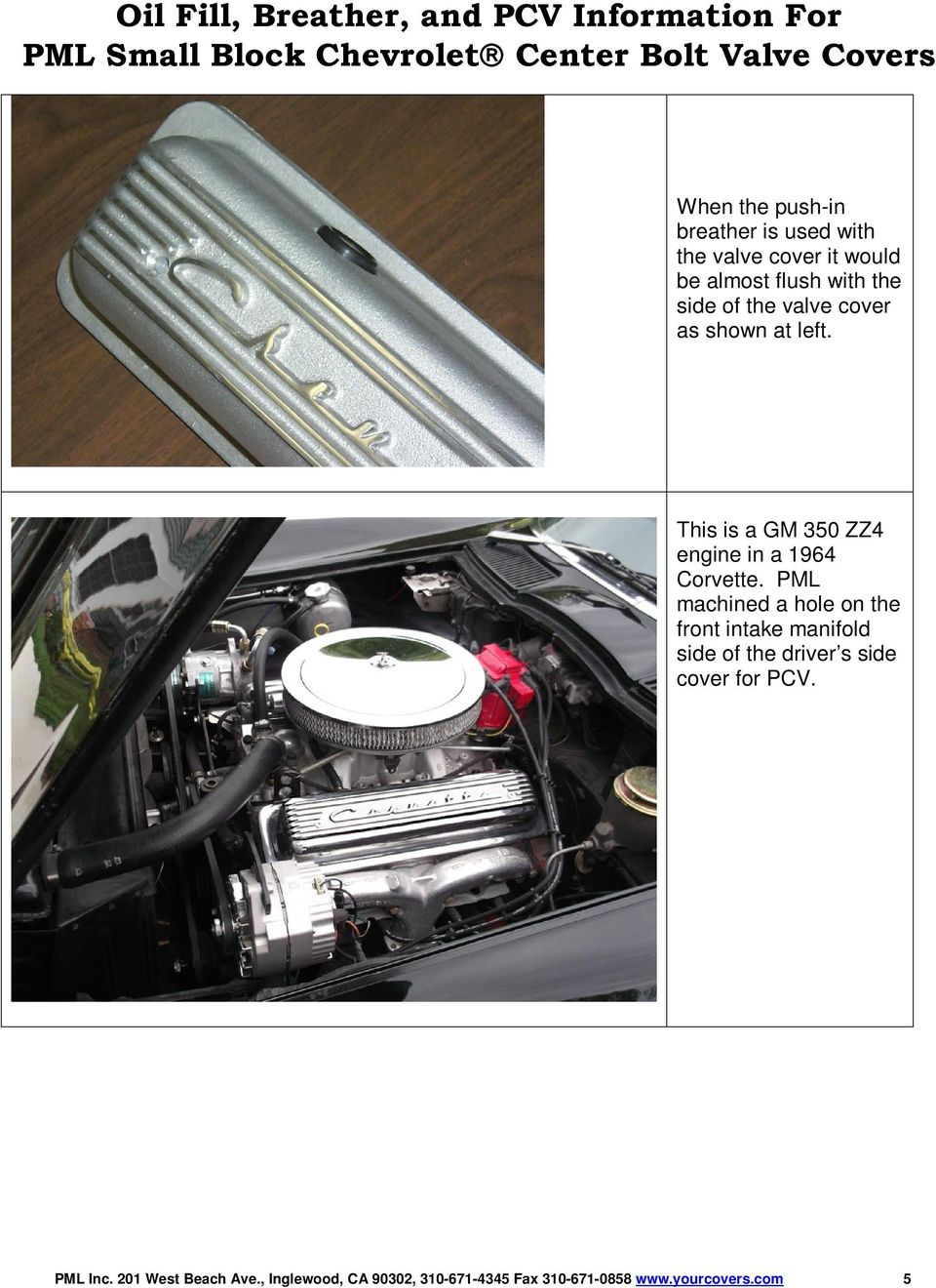 Oil Fill Breather And Pcv Information For Pml Small Block