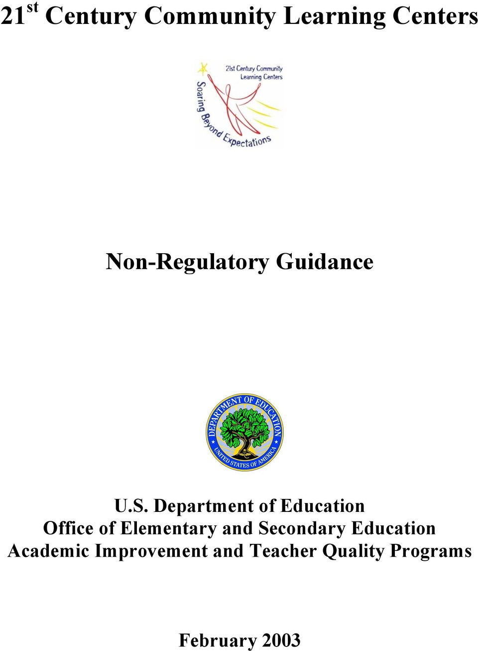 Department of Education Office of Elementary and