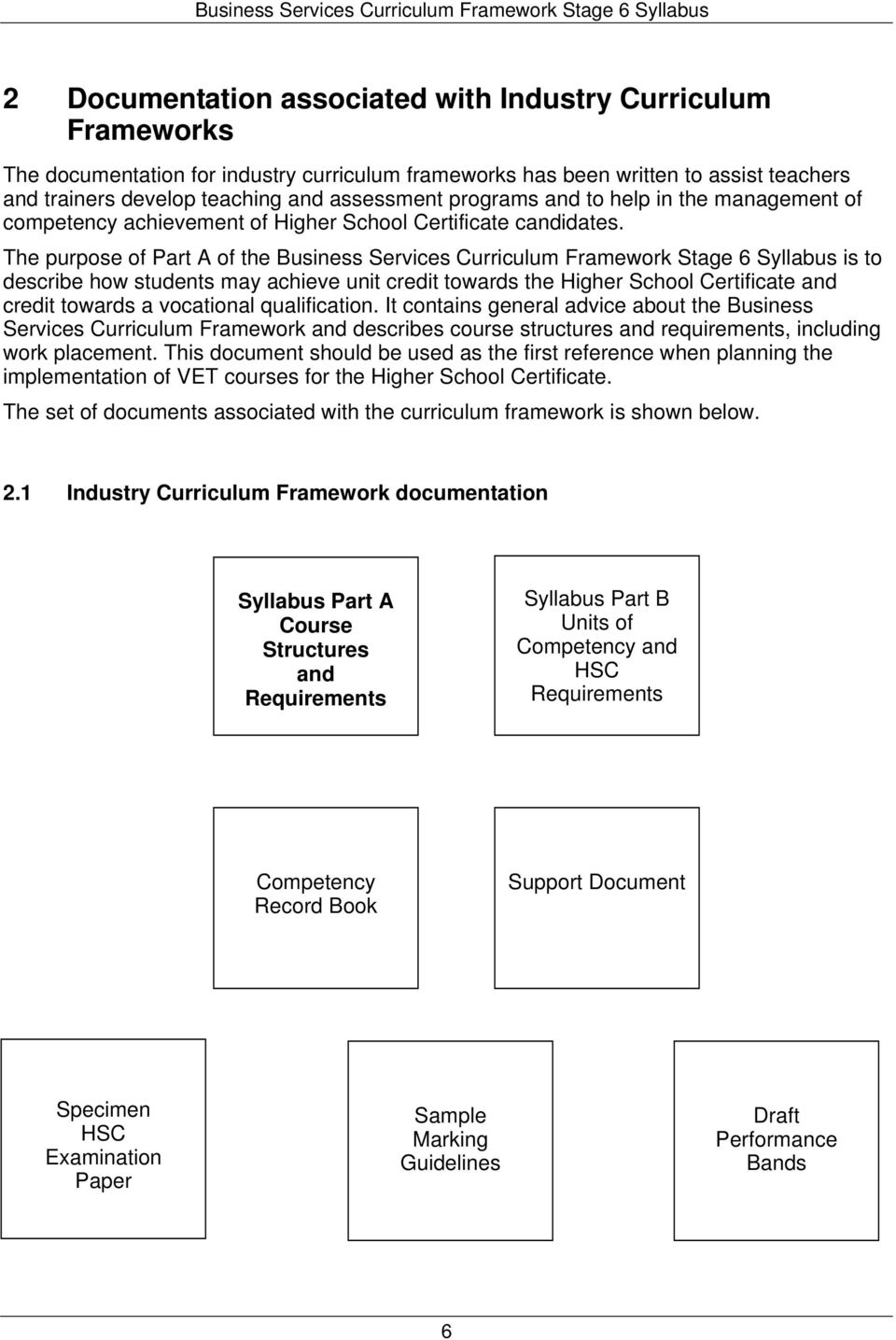 The purpose of Part A of the Business Services Curriculum Framework Stage 6 Syllabus is to describe how students may achieve unit credit towards the Higher School Certificate and credit towards a