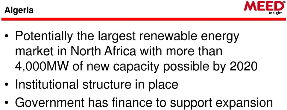 new capacity possible by 2020 Institutional