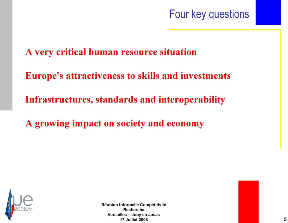 investments Infrastructures, standards and
