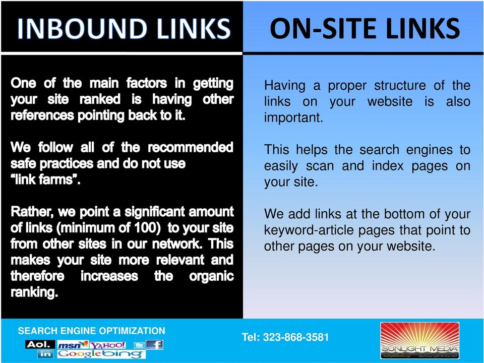 This helps the search engines to easily scan and index pages on