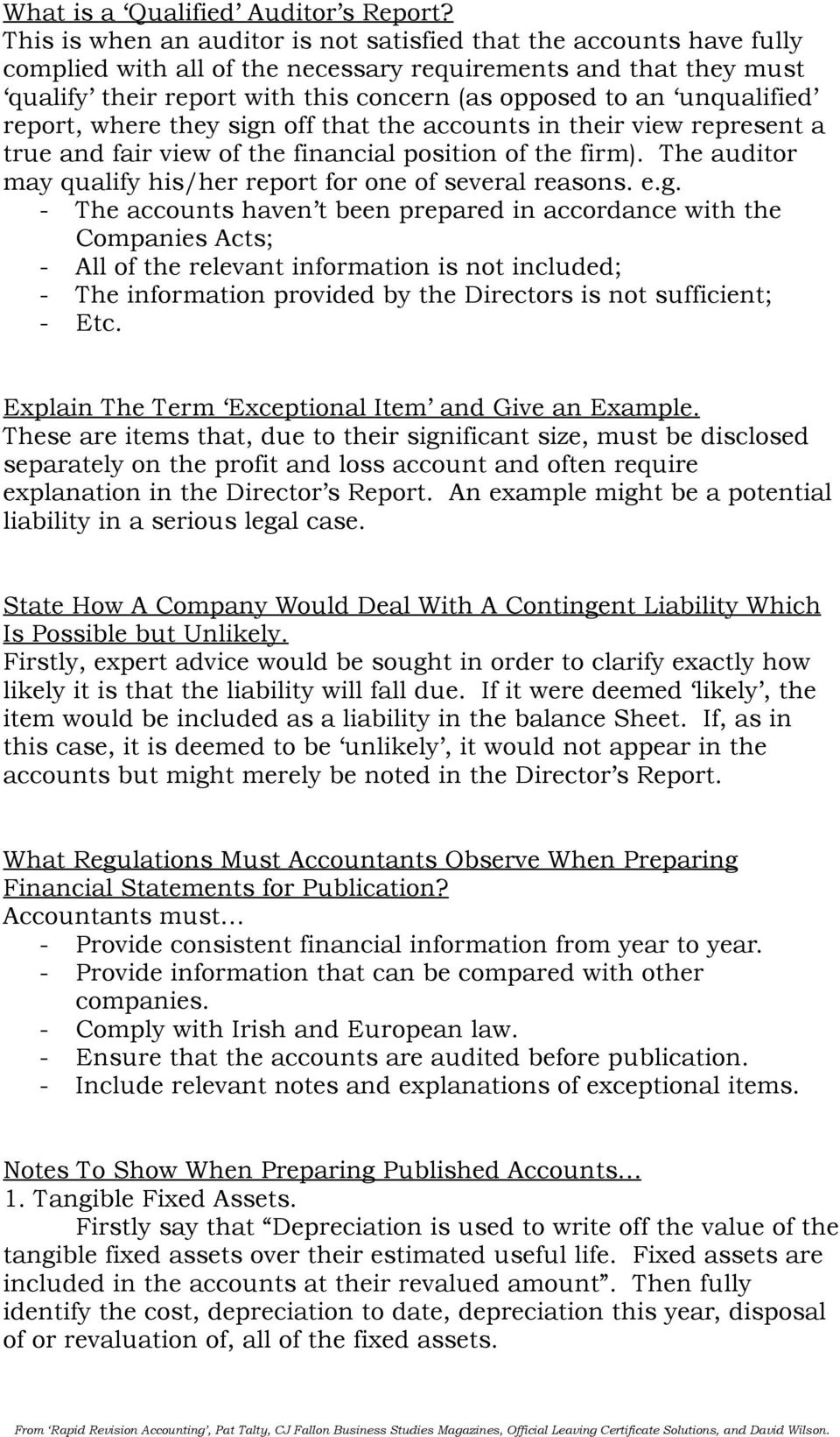 Why Do Farmers / Clubs / Firms / Anyone Prepare Accounts? To