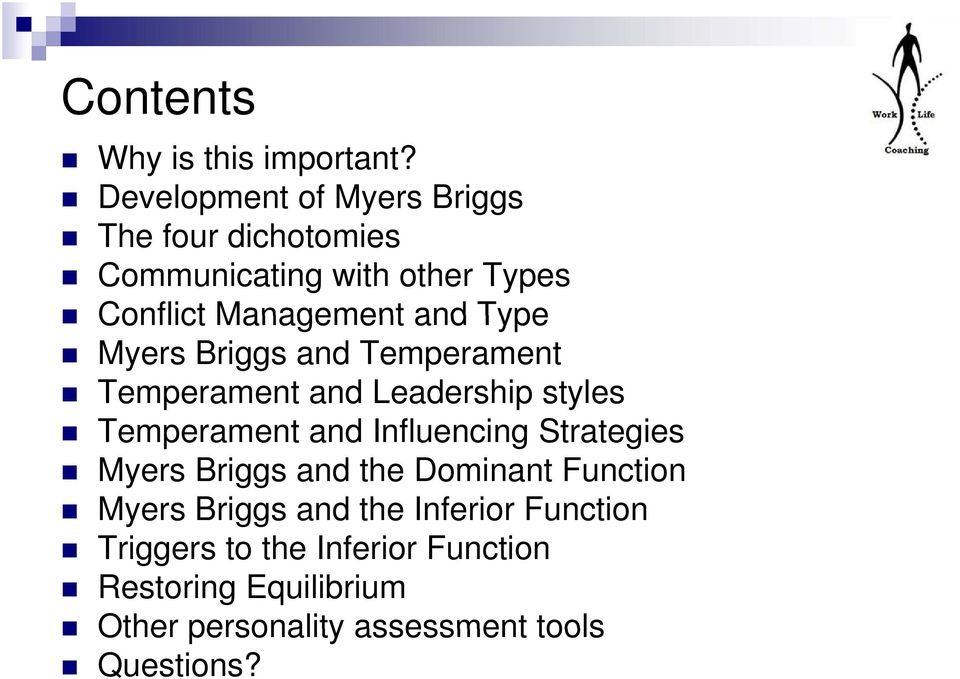 Improve your Management  knowledge of Personality Types  PMI