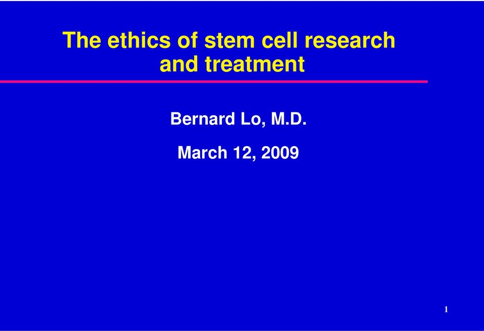 The ethics of stem cell research and treatment - PDF