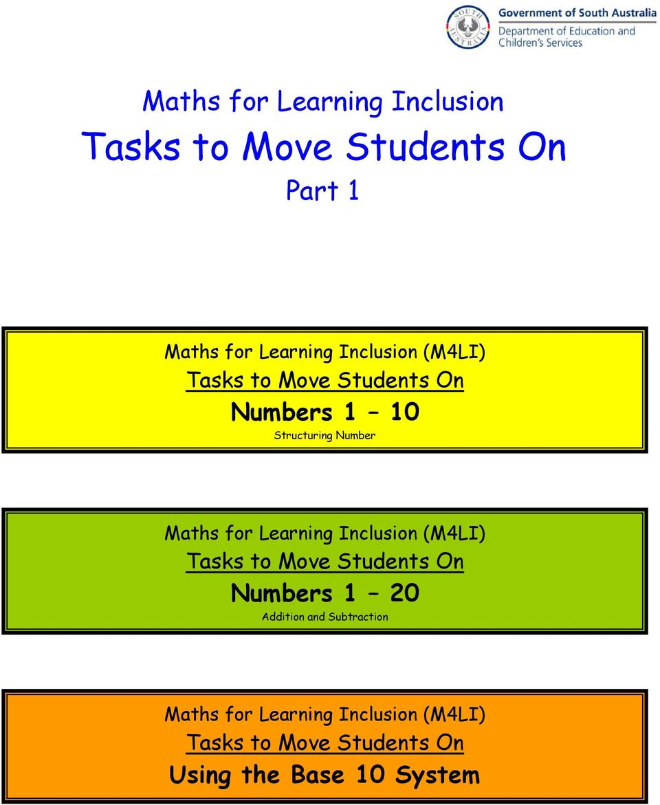Tasks To Move Students On Pdf