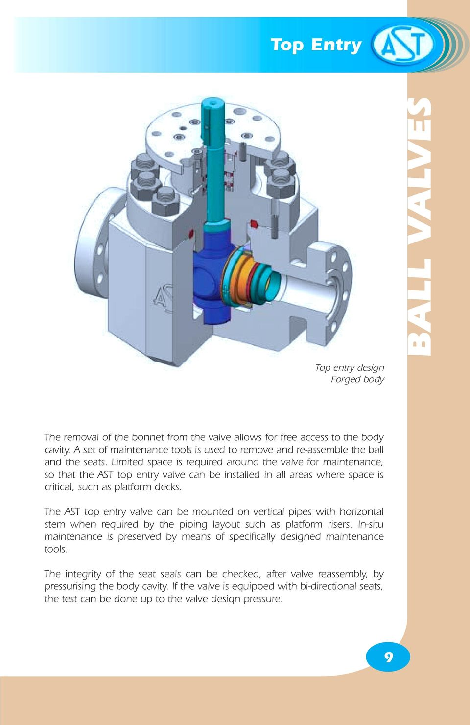 Ball Valves Side Entry Top Pdf Piping Layout Tools Limited Space Is Required Around The Valve For Maintenance So That Ast