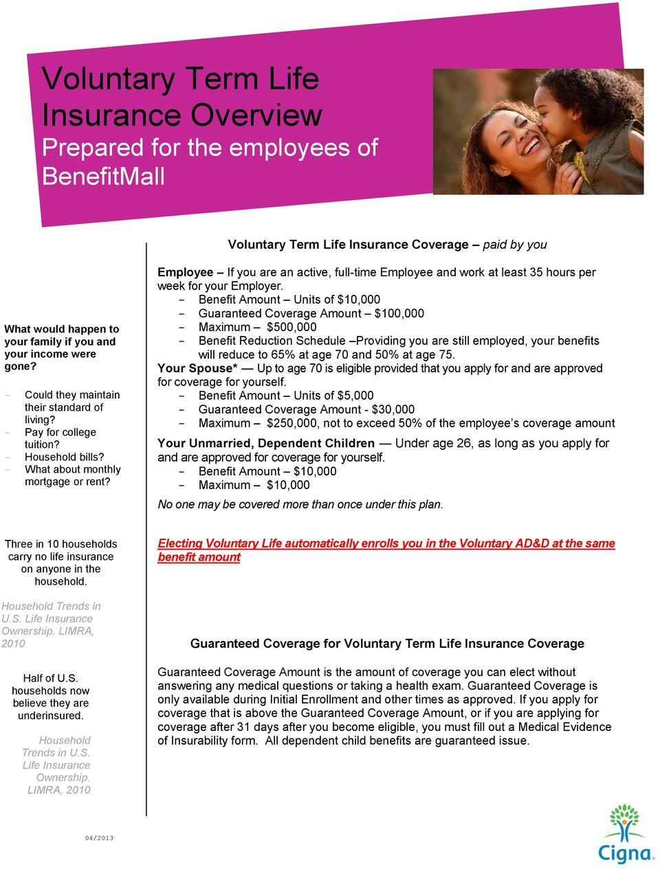 Employee If you are an active, full-time Employee and work at least 35 hours per week for your Employer.