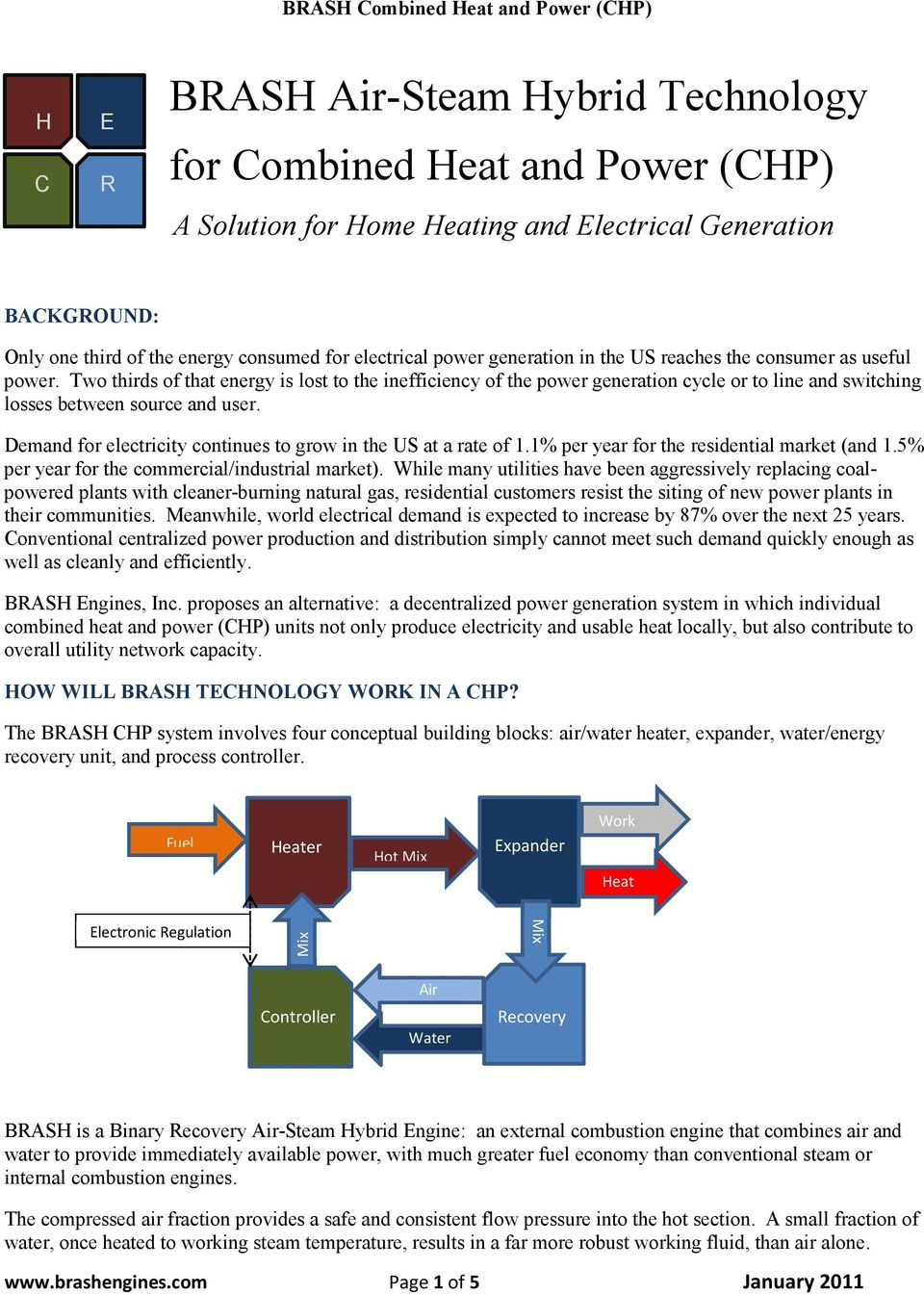 Brash Air Steam Hybrid Technology For Combined Heat And Power Chp Cogeneration Engine Diagram Two Thirds Of That Energy Is Lost To The Inefficiency Generation Cycle Or