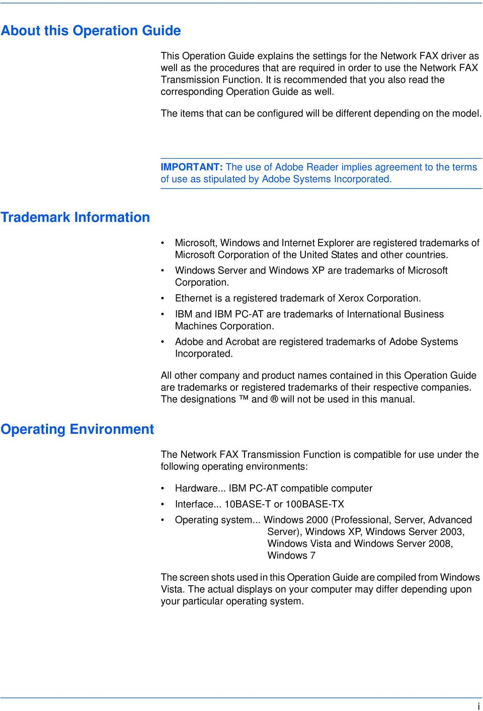 IMPORTANT: The use of Adobe Reader implies agreement to the terms of use as stipulated by Adobe Systems Incorporated.