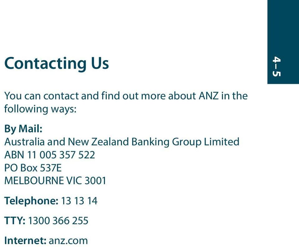 Banking Group Limited ABN 11 005 357 522 PO Box 537E