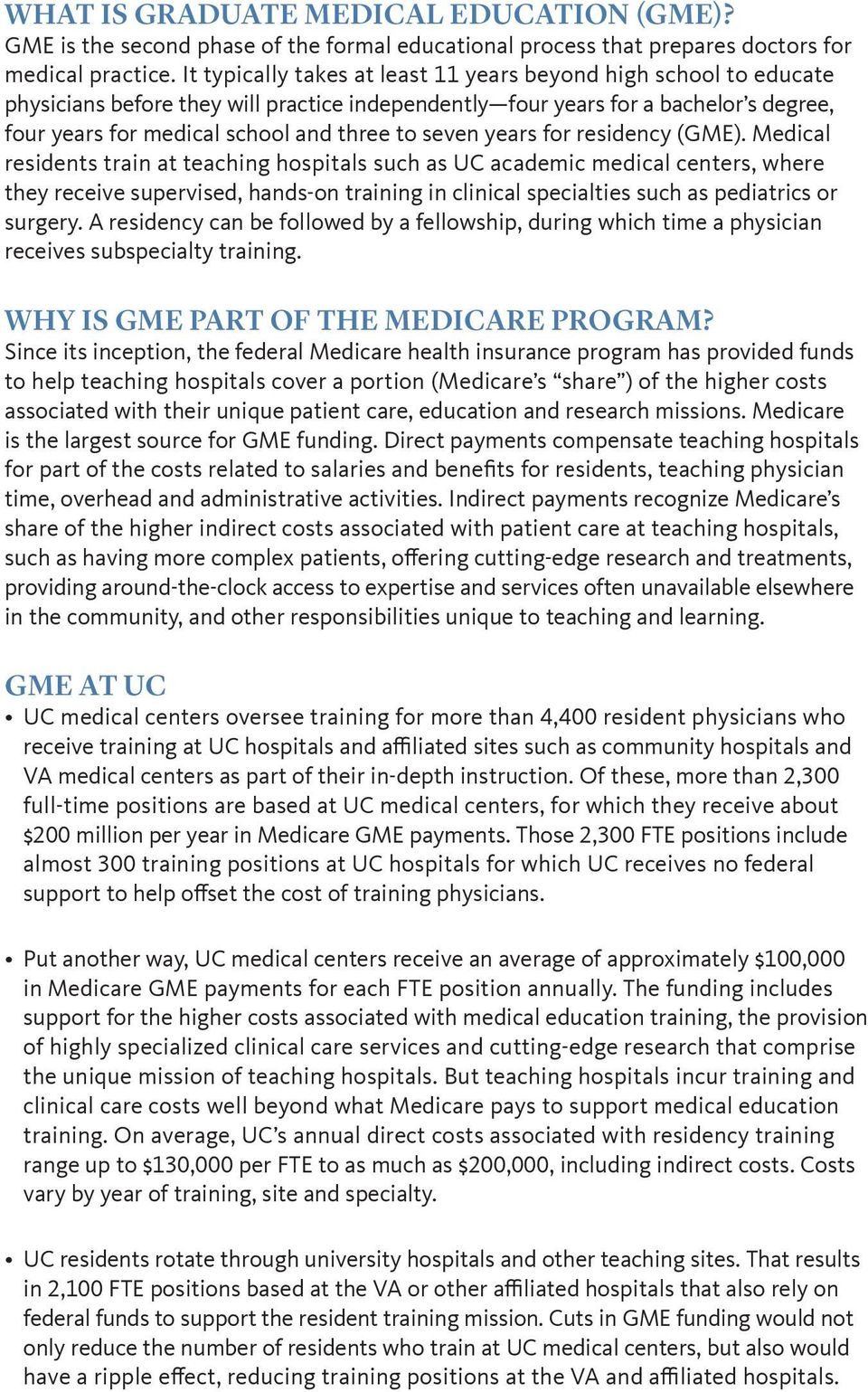 Training Physicians: Medicare support provides vital funding