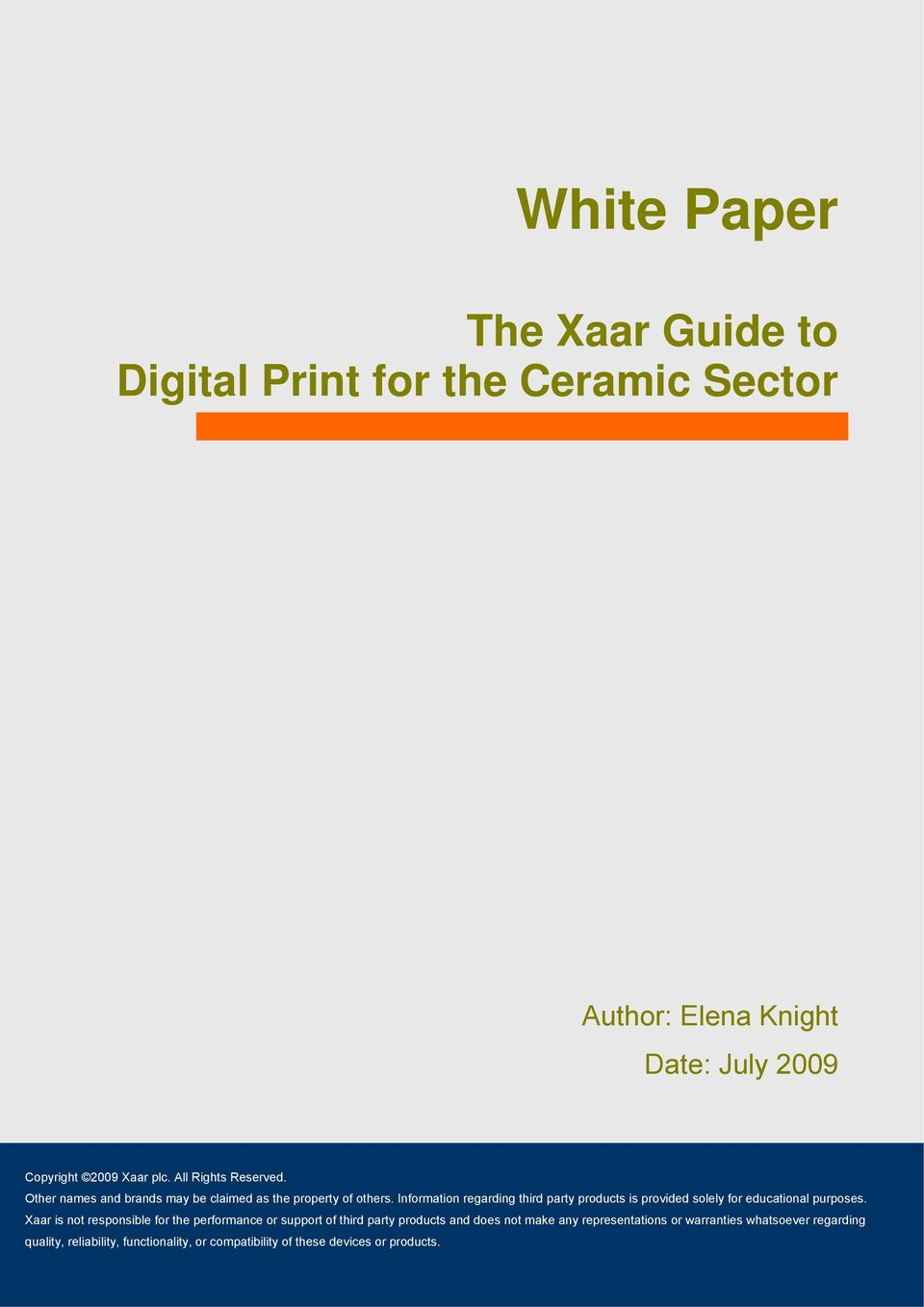 The Xaar Guide to Digital Print for the Ceramic Sector - PDF