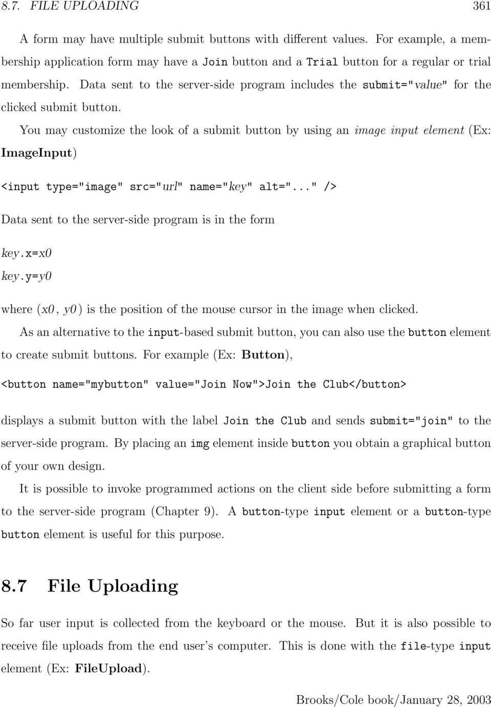 Chapter 8  Forms and Form Processing - PDF