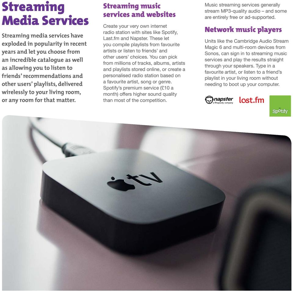 Wireless Streaming  Enjoy your music and movies in every