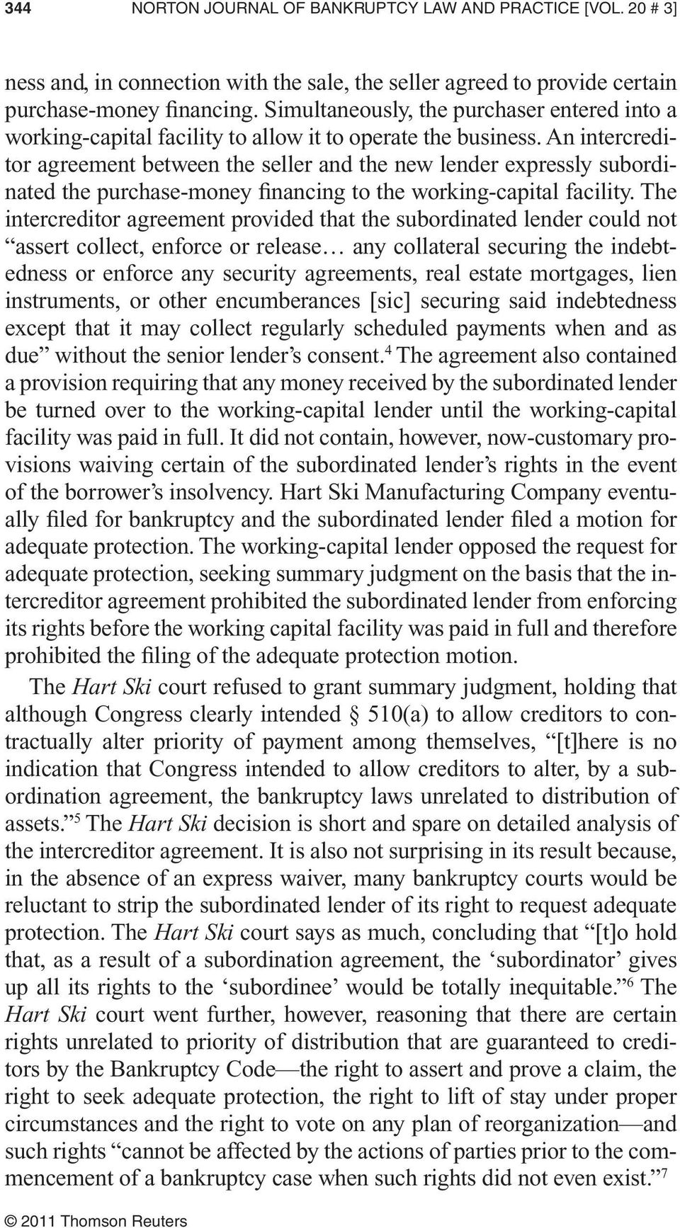 Enforcement Of Intercreditor Agreements In Bankruptcy Pdf