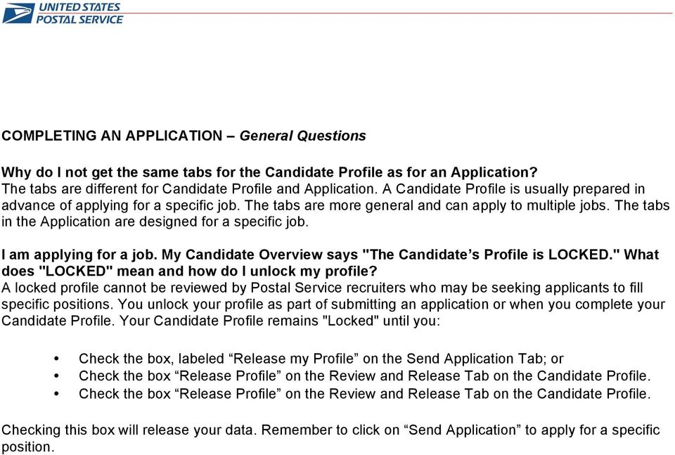 Usps Online Job Application System Searching Applying For Jobs Pdf