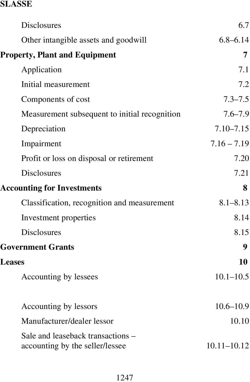 21 Accounting for Investments 8 Classification, recognition and measurement 8.1 8.13 Investment properties 8.14 Disclosures 8.