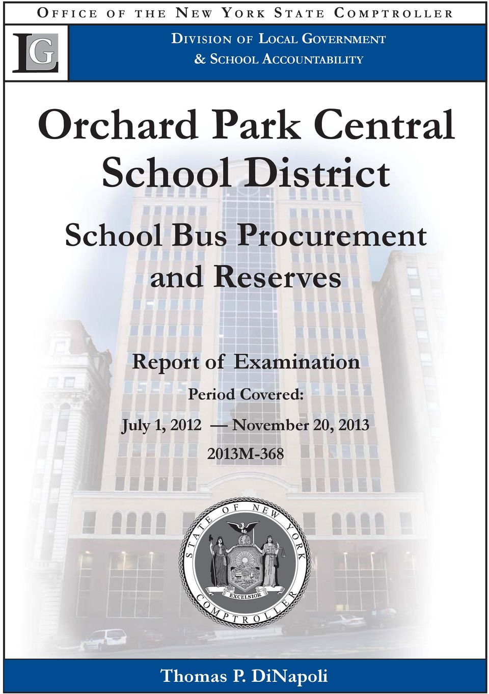 District School Bus Procurement and Reserves Report of Examination