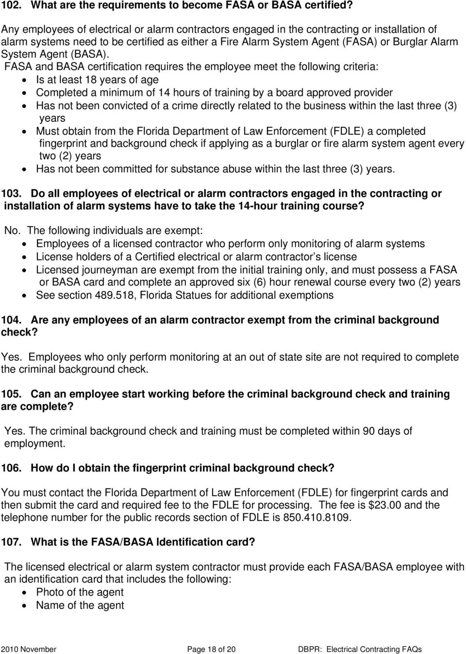 Electrical Contracting Frequently Asked Questions Pdf Free
