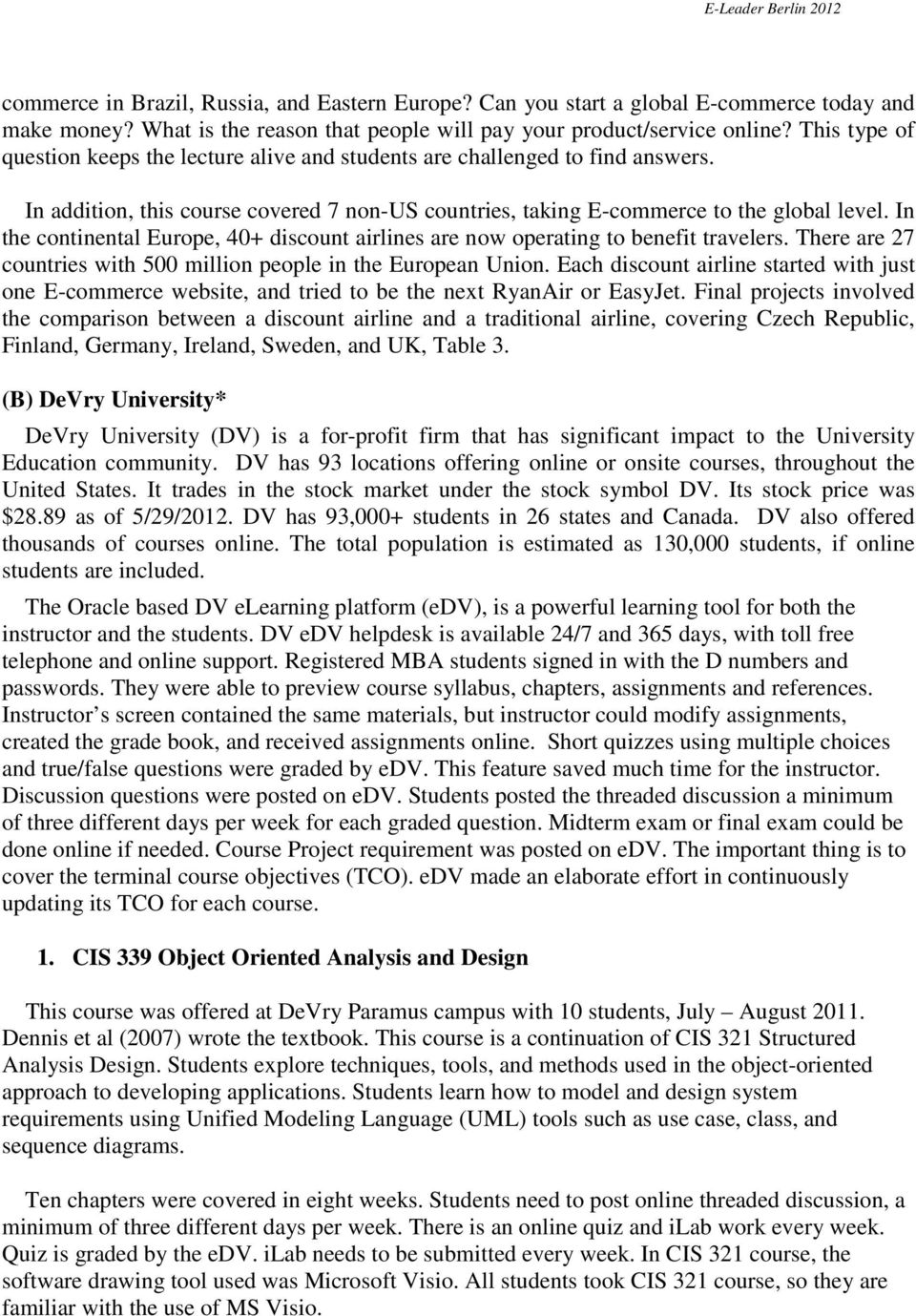 Case Studies in Systems and Database Courses - PDF