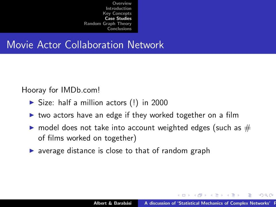 ) in 2000 two actors have an edge if they worked together on a film