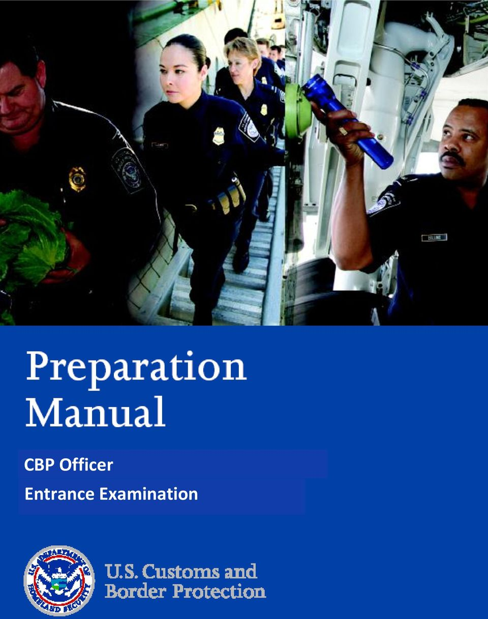 CBP Officer Entrance Examination - PDF