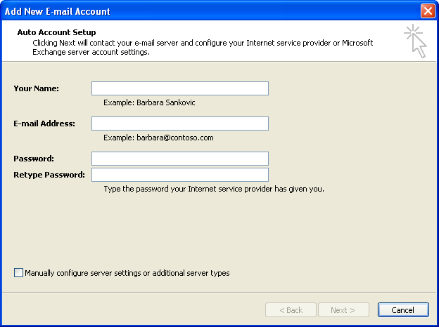 Auto Account Setup You can try this
