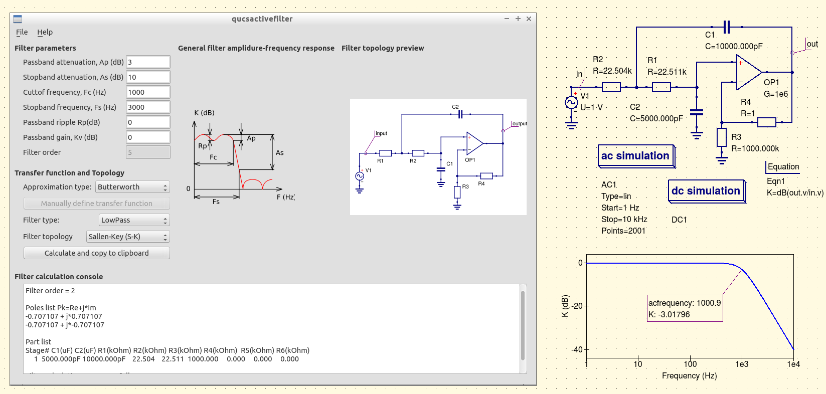Qucs Improvements And New Directions In Gpl Compact Device Irs2092 Class D Amplifier Circuit Lm1036 Tone Controlled Power Actave Filter Design Example