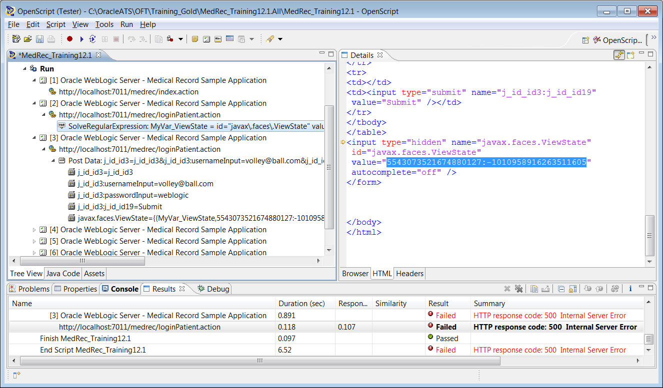 Oracle Application Testing Suite  OpenScript for Load