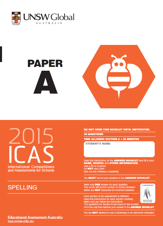 icas results 2012 writing a letter