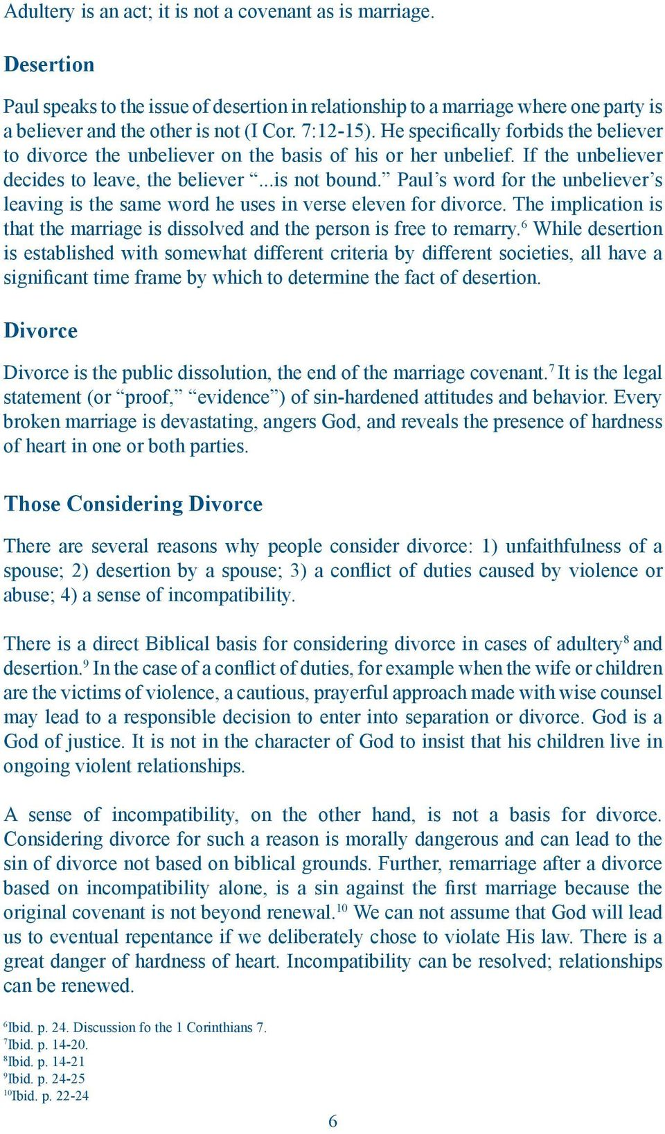 Position Paper  Divorce and Remarriage - PDF
